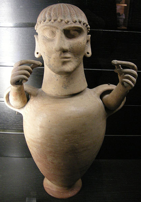 Etruscan Canopic Urn from Chiusi. Louvre Museum.