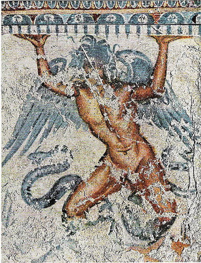 Etruscan mural of Typhon