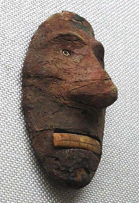 Europoid Mask, Lop Nur, China, 2000-1000 BC.
