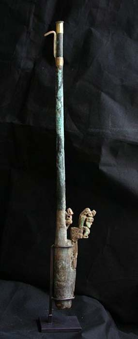 Example of a ceremonial 'atlatl' spear thrower discovered Peru. Lombards Museum. (Lombards Museum/CC BY 3.0)