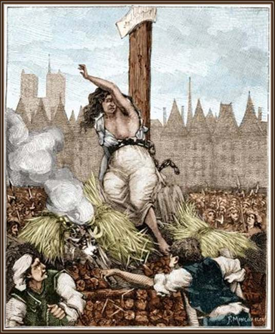 'The Execution of Catherine Deshayes.'