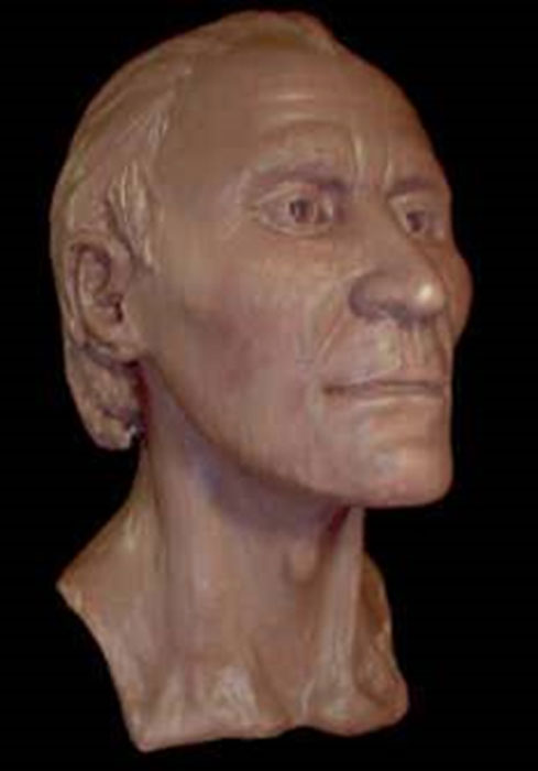 Facial reconstruction of the Grauballe Man's face. (Gourami Watcher / CC BY-SA 3.0)