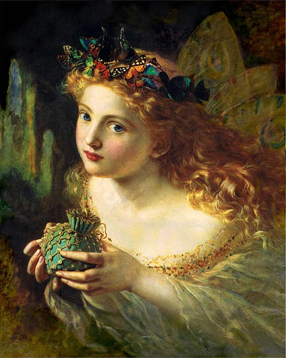 'Take the Fair Face of Woman, and Gently Suspending, With Butterflies, Flowers, and Jewels Attending, Thus Your Fairy is Made of Most Beautiful Things.' By Sophie Gengembre Anderson.