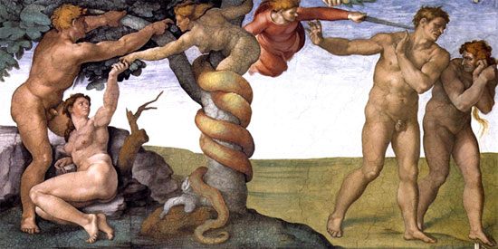 The Fall and Expulsion of Adam - Michaelangelo