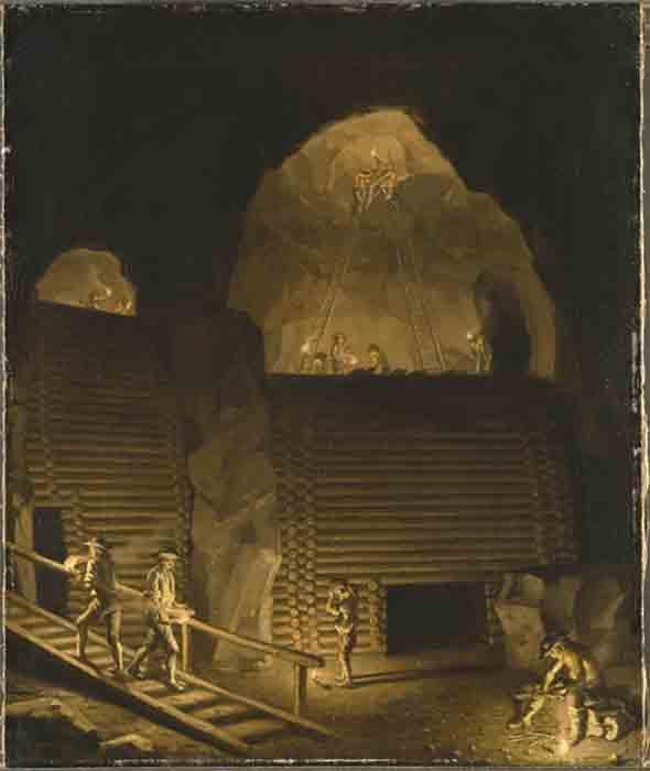 'Falun Copper Mine' by Pehr Hilleström. (Public Domain)