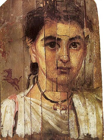 Fayum portrait of a boy during the Roman occupation of Egypt