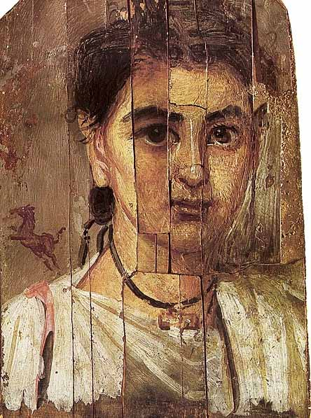 Fayum portrait of a boy during the Roman occupation of Egypt (public domain)