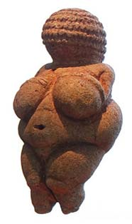 Female nude, Venus of Willendorf 22000 – 24000 BC, is the pride of the Naturhistorisches Museum in Vienna. Image: S. Zucker