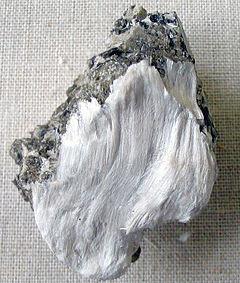 Fibrous tremolite asbestos