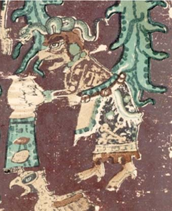 Figure 5. Old Moon Goddess Destructive, Chak Chel. Dresden Codex, Forstemann version, with permission of FAMSI.