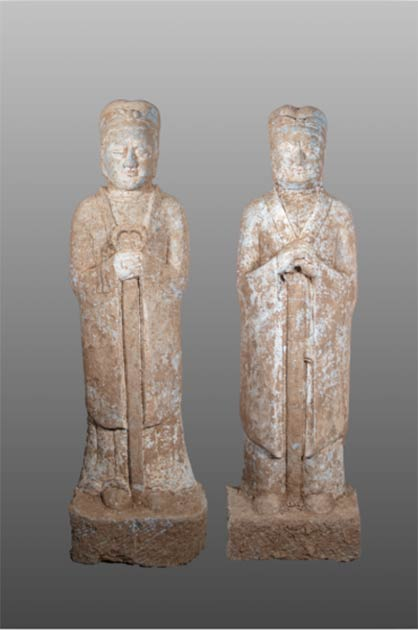 Figures unearthed in Chinese tomb discovered in Henan province of central China. (Zhou HuiYing / China Daily)
