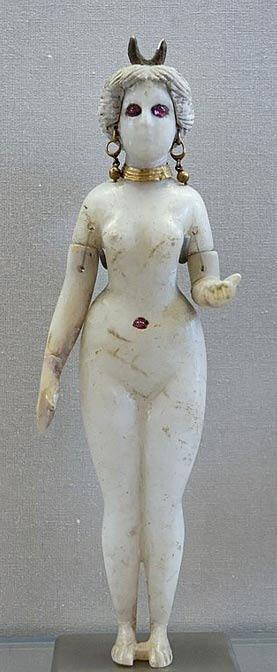 Figurine of Astarte with a horned headdress, Louvre Museum.