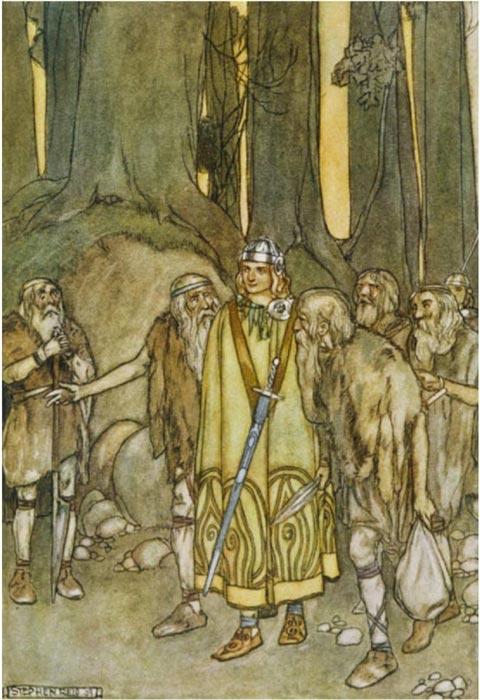 Fionn Mac Cumhaill and the Fianna (public domain)