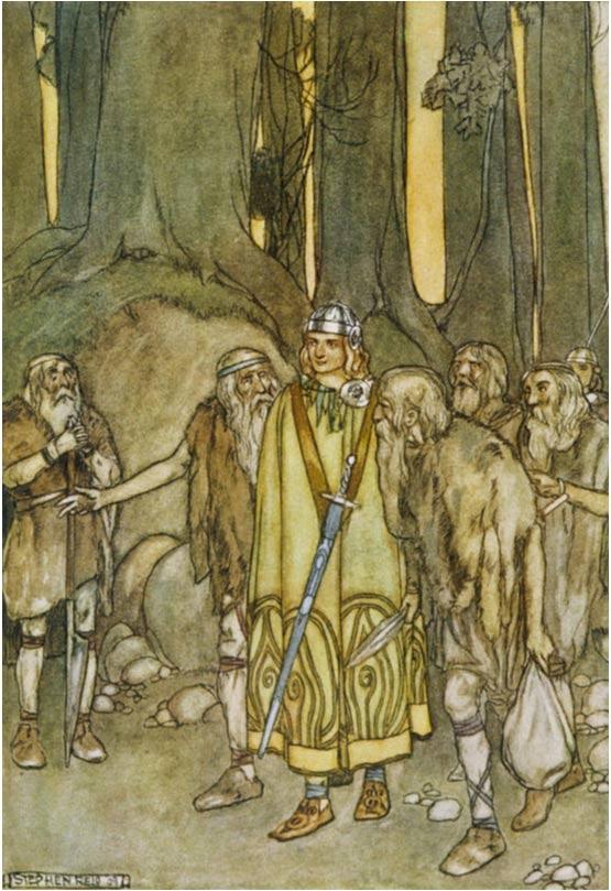 Fionn Mac Cumhaill and the Fianna.
