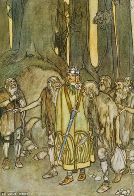Fionn mac Cumhaill, illustration by Stephen Reid.