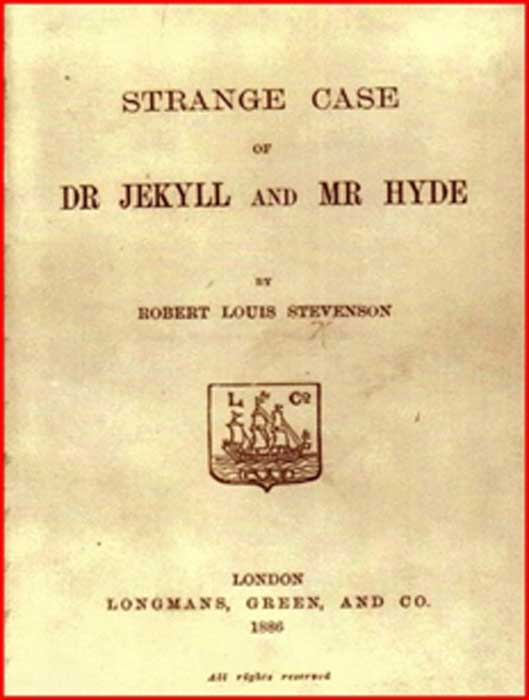 "First edition of ""The strange case of Dr. Jekyll and Mr. Hyde"", published in 1896. (Image: Courtesy Dr Roberto Volterri)"