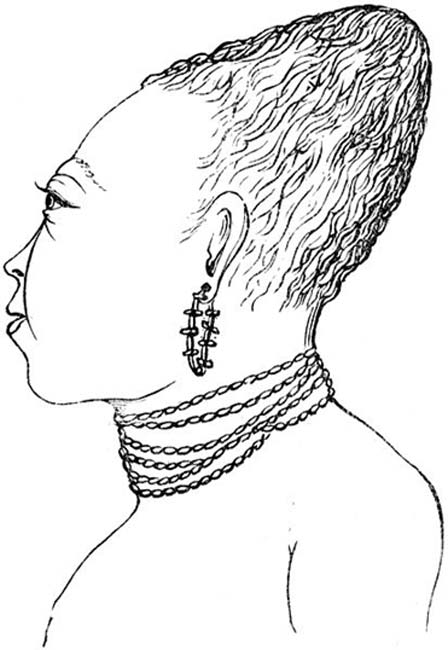 'Flat headed Indian child'. (1880)