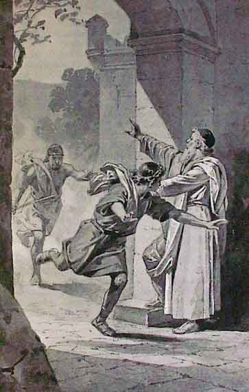 Fleeing to a city of refuge in Canaan. These cities were administered by the Levites. (Illustrators of Charles Foster, The Story of the Bible, Philadelphia: A.J. Homan Co., 1884. / Public domain)