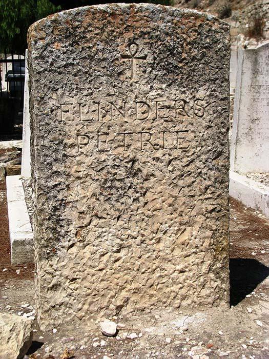 Flinders Petrie headstone – Protestant Cemetery – Jerusalem, Israel (2009).