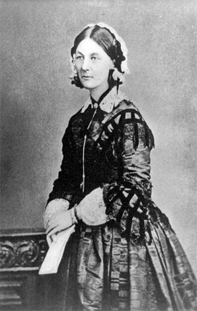Florence Nightingale pictured during the Crimean War, Russia, circa 1855. (Public domain)