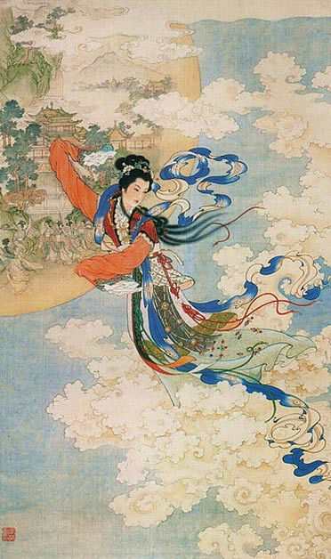 Chang'e Flying to the Moon (1955) by Ren Shuai Ying.