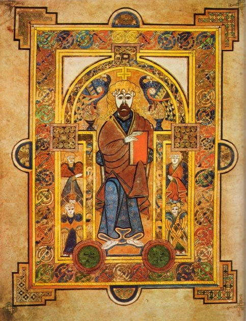 Folio 32v, Christ Enthroned - shows the vibrant colors used in the creation of the Book of Kells. (PKM / Public Domain)