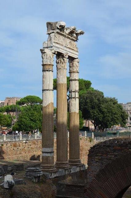 The Forum of Caesar and the Temple of Venus Genetrix.