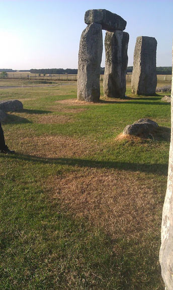 Four distinct parch marks - Stonehenge
