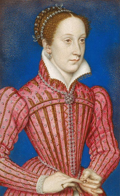 François Clouet – Mary Stuart, Queen of Scots (1542-87). Image first recorded in the collection of Charles I. (Public Domain)