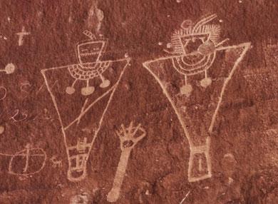 Fremont petroglyphs in Sego Canyon