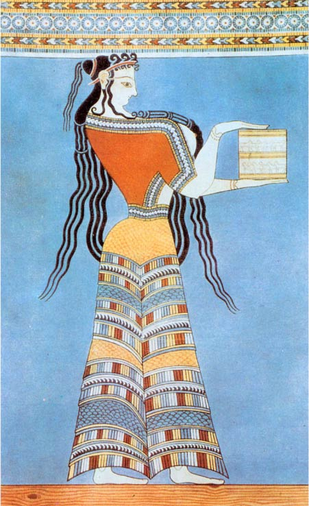 Fresco of a Mycenaean woman