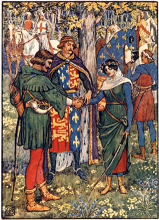 Fulk III FitzWarin marries Maude de Vavasur – as depicted in the story of Robin Hood and Maid Marian. (Black Morgan / Public Domain)