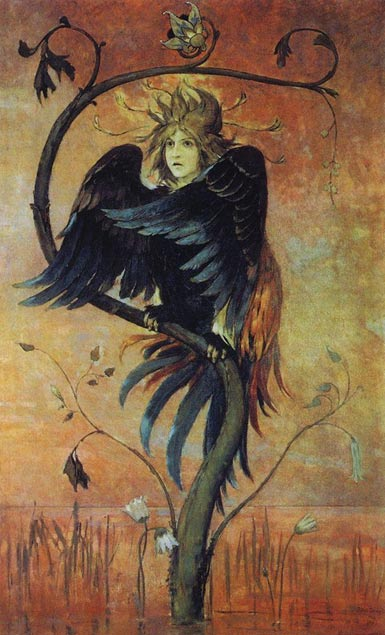 Gamayun, in a painting by Viktor Vasnetsov