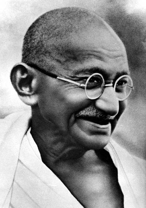 Gandhi. (Public Domain) A central tenet of Gandhi's teaching was vegetarianism. But he did not call for a beef ban.