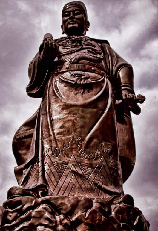 General Zheng He statue in Sam Po Kong temple, Semarang, Indonesia