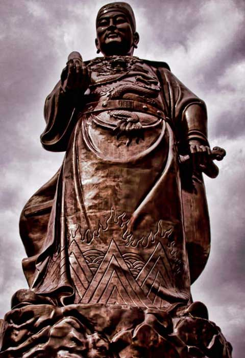 General Zheng He statue in Sam Po Kong temple, Semarang, Indonesia.