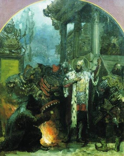 'Genrikh Semiradsky's 'Alexander Nevsky in the Horde'. 1876.