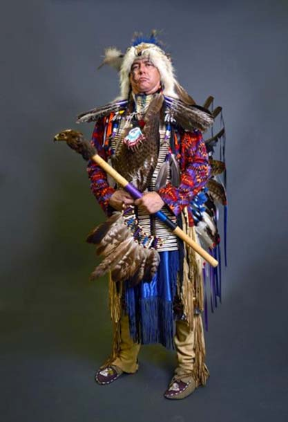 George Free Spirit Medina, photographed in 2015 in Pueblo, Colorado, at a gathering of North American Native people. (Public Domain)