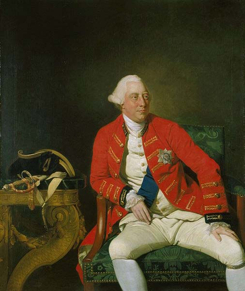 George III of the United Kingdom (1771) By Johann Zoffany. (Public Domain) This king allegedly had blue-tinged or purple pee.