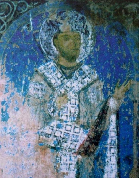 George III (fresco from the Kintsvisi Monastery)