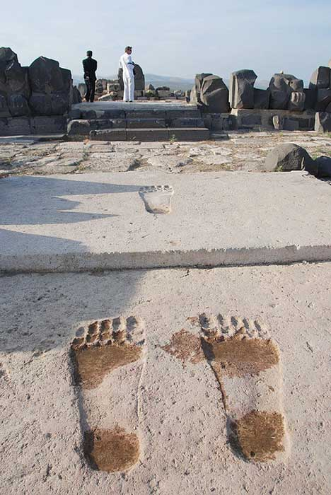 Giant steps are an interesting feature of the temple of Ain Dara.