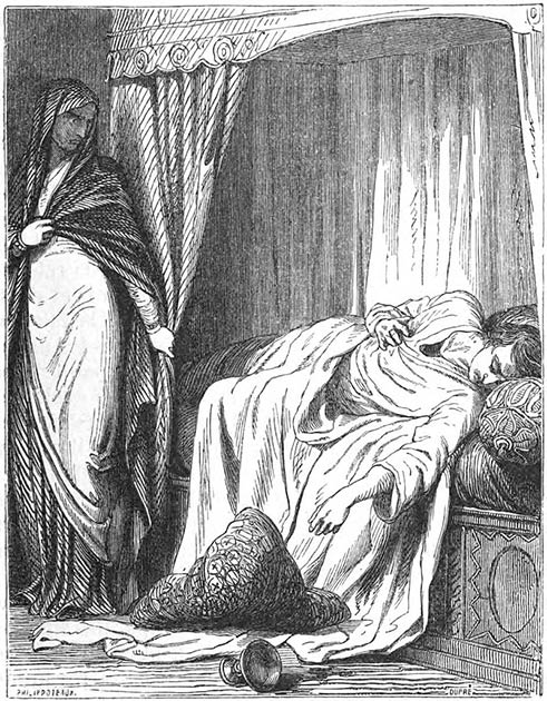 Giulia Tofana was not directly killing victims, but rather selling the poison so that others could do so. For the most part she catered to unhappy women trying to escape abusive relationships. (Public domain)