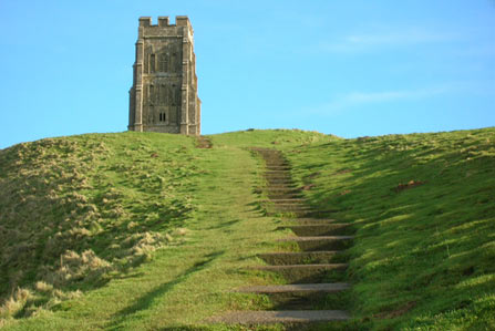 The summit of Glastonbury Tor