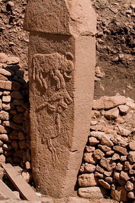 Gobekli Tepe pillar. (Teomancimit/CC BY SA 3.0)
