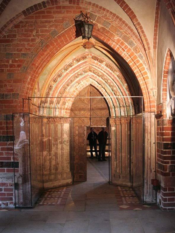 Golden Gate at the castle in Malbork, where on 18 November 1330, John von Endorf assassinated Grand Master Werner von Orseln