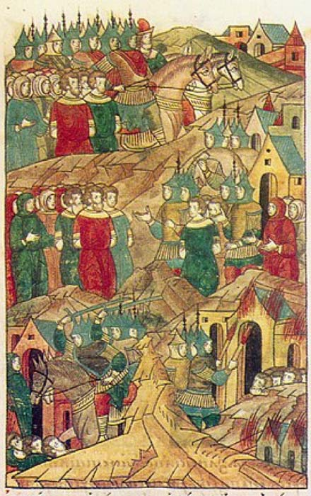 Golden Horde raid at Ryazan. (Public Domain) Batu and his army took Ryazan in 1237.