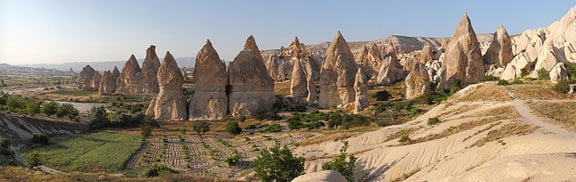 Rock formation known as 'fairy chimneys', near Gorëme in Cappadocia
