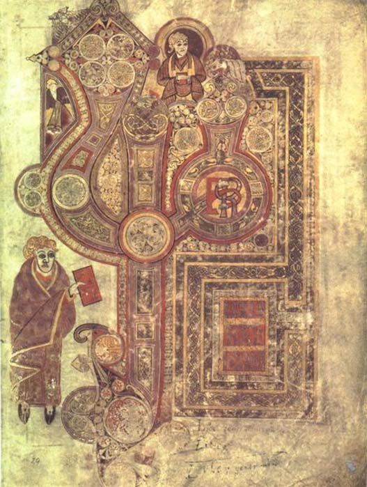 Gospel of Matthew from the Book of Kells is now thought to be the work of a different scribe