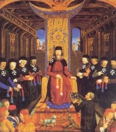 Grand master Pierre d'Aubusson & senior Knights Hospitaller. (Public Domain)