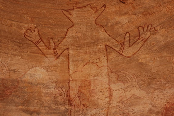 Great god of Sefar - Tassili n'Ajjer Rock art